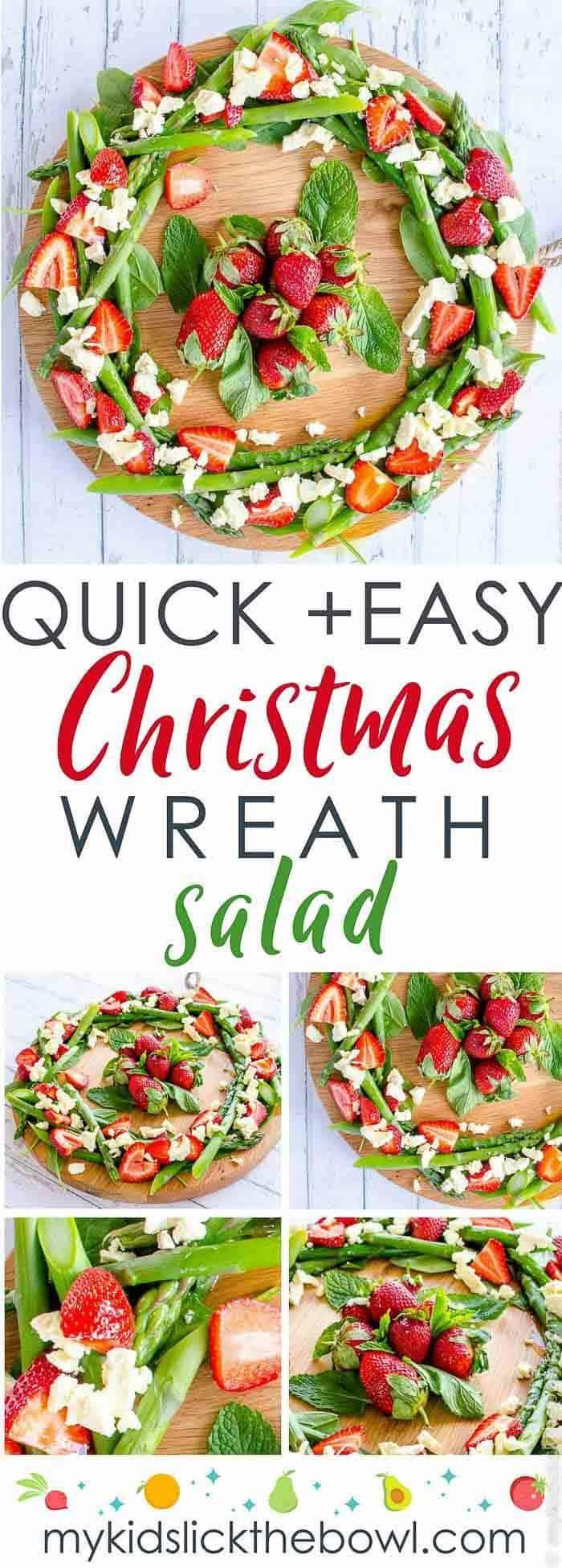 Quick Christmas Wreath Salad Recipe