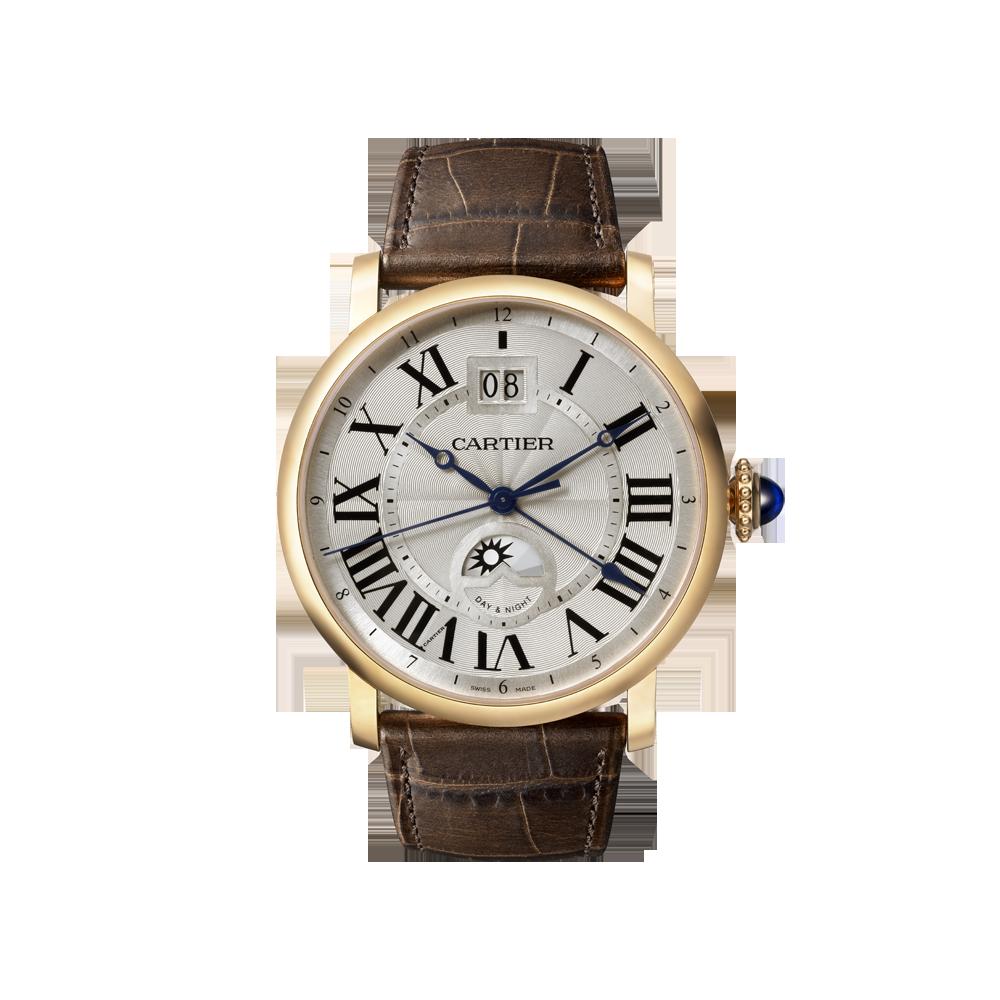 Rotonde de Cartier large date second time-zone watch