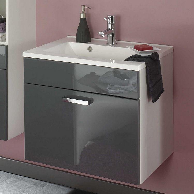 Malaga Waschplatz - Grau/Weiß, Posseik Jetzt bestellen unter   - graue moebel einrichtung modern ideen