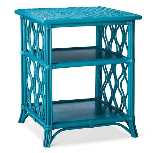 Made for the modern day free spirit, the Orani nightstand will add an elegant touch to your bedroom. This beautiful nightstand is made of rattan and painted in a dusty teal or white. Two shelves provide plenty of space to layer eclectic decor, books or candles. It's easy to pair with your current headboard or look for the matching Orani headboard.