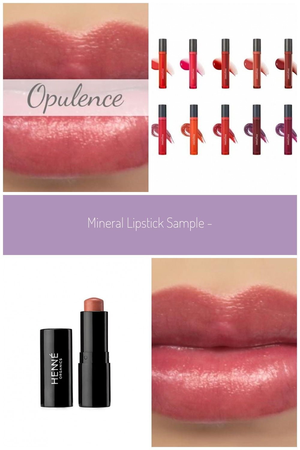 Mineral Lipstick Sample Quot Opulence Quot Sheer Berry Pink Lip
