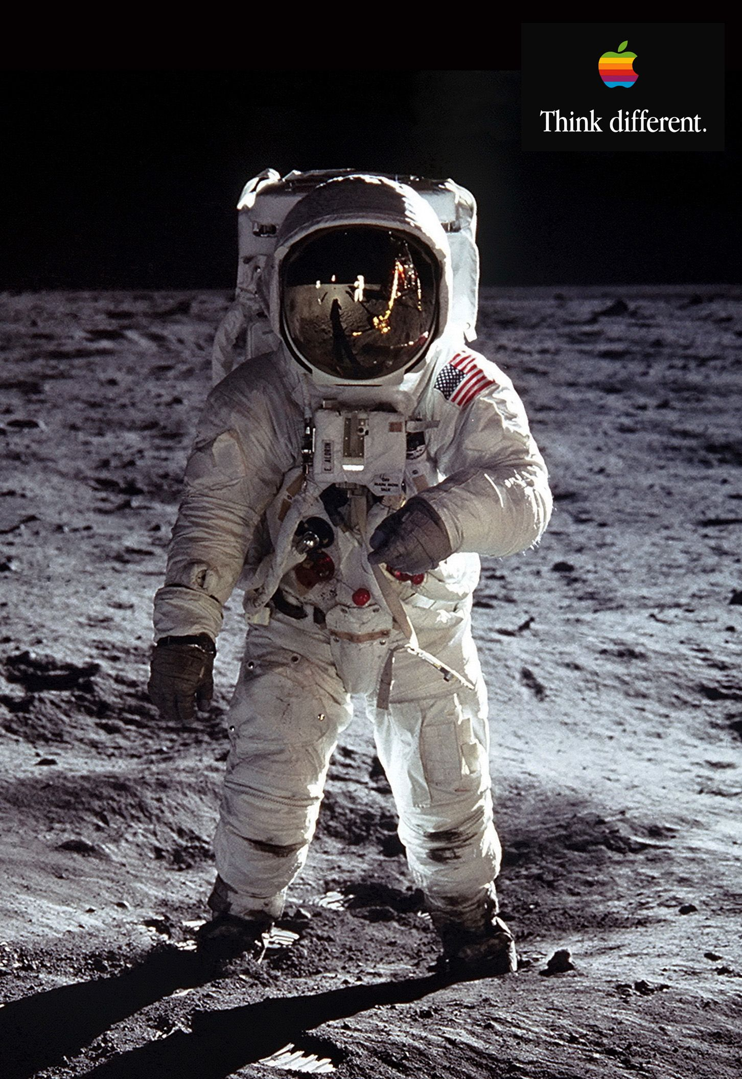 Buzz Aldrin - Think Different | Apple Computers | Pinterest