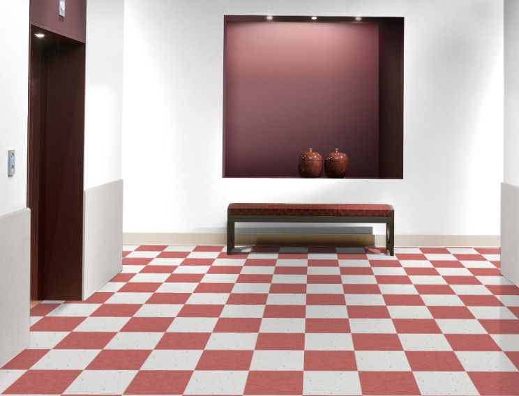 Armstrong S 57503 Bubblegum And 51941 Polar White 12 X 12 Inch Tile From The Standard Excelon Imperial Texture C Vinyl Tile Flooring Lvt Tile Luxury Vinyl Tile