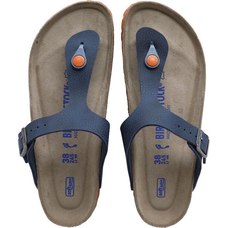 Birkenstock Gizeh Birko Flor Desert Soil Sandals Blue   get