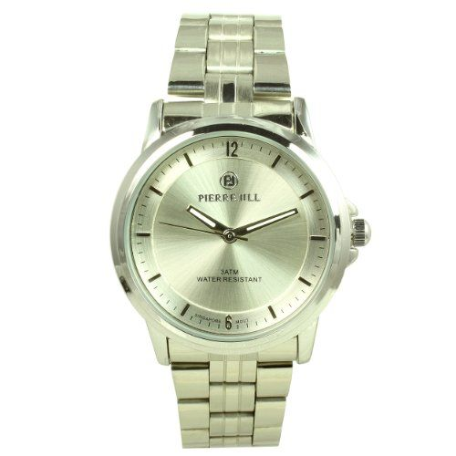 Pierre Jill Watch in Silver Dial Silver Stainless Steel Bracelet -- More info could be found at the image url.(This is an Amazon affiliate link and I receive a commission for the sales)
