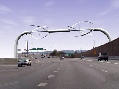 Autoroute Eolienne Energie Renouvelable Technologie De L