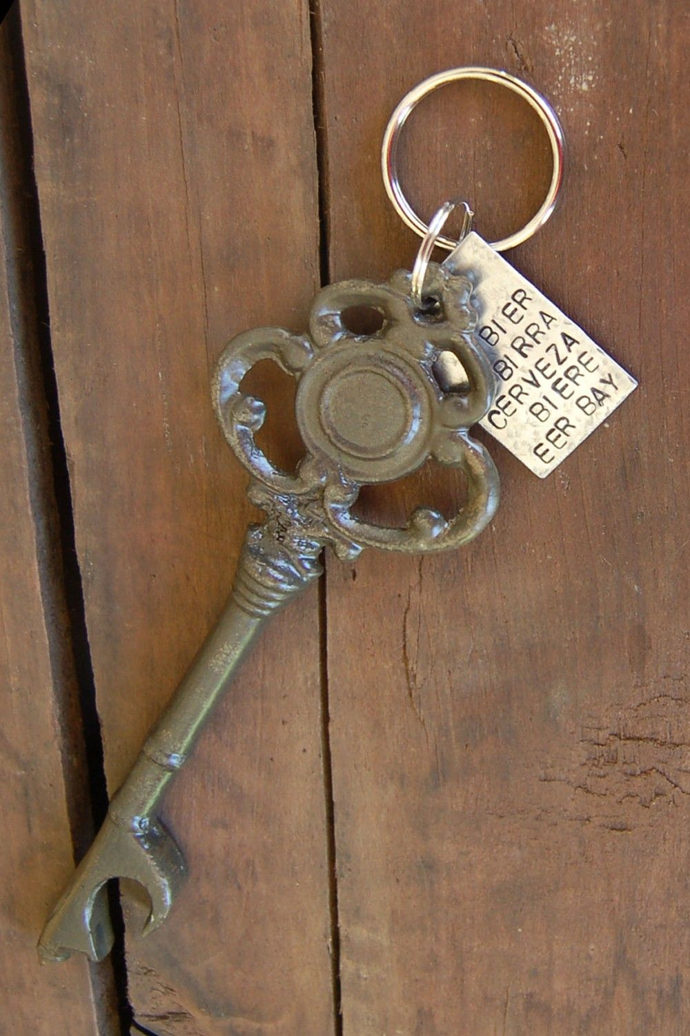 skeleton key bottle opener keychain via etsy - Key Bottle Opener