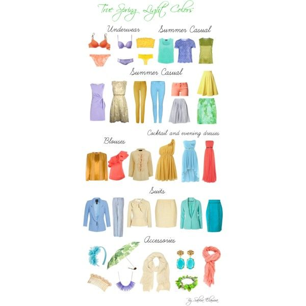 """True spring light colors"" by sabira-amira on Polyvore"
