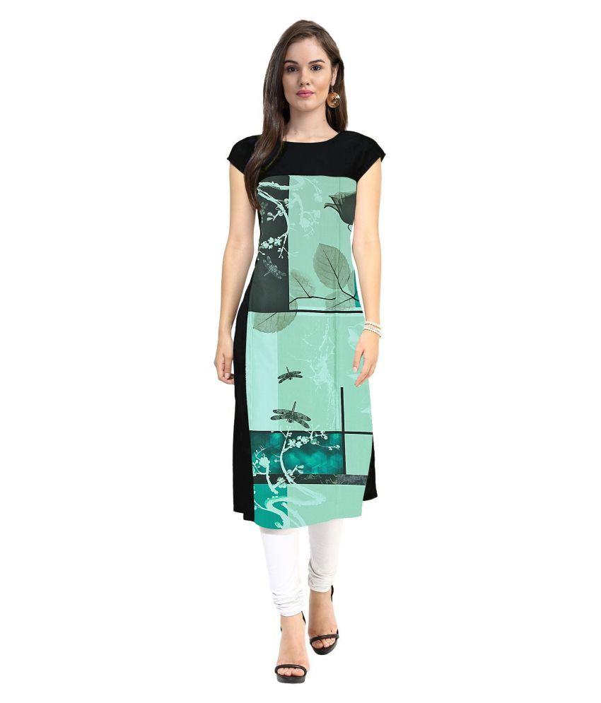 74a4923138c Buy Janasya Multicoloured Crepe Straight Kurti from Snapdeal