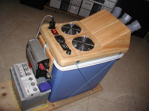 HOMEMADE DIY SOLAR POWERED AIR CONDITIONER / COOLER 12v DC Or 220v AC ***