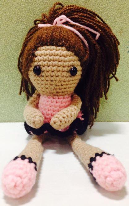 Amigurumi doll handmade crocheted, by me