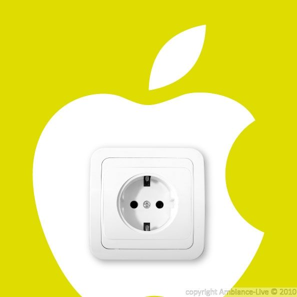 apple logo sticker to decorate your switch or outlet. #wall #decals