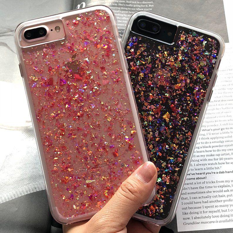 IPhone 7 Plus Glitter Case HANDMADE Clear Confetti Blast