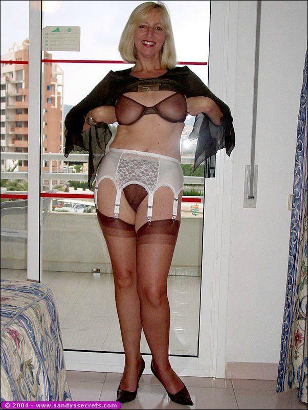 Sandys secrets nylons stockings confirm