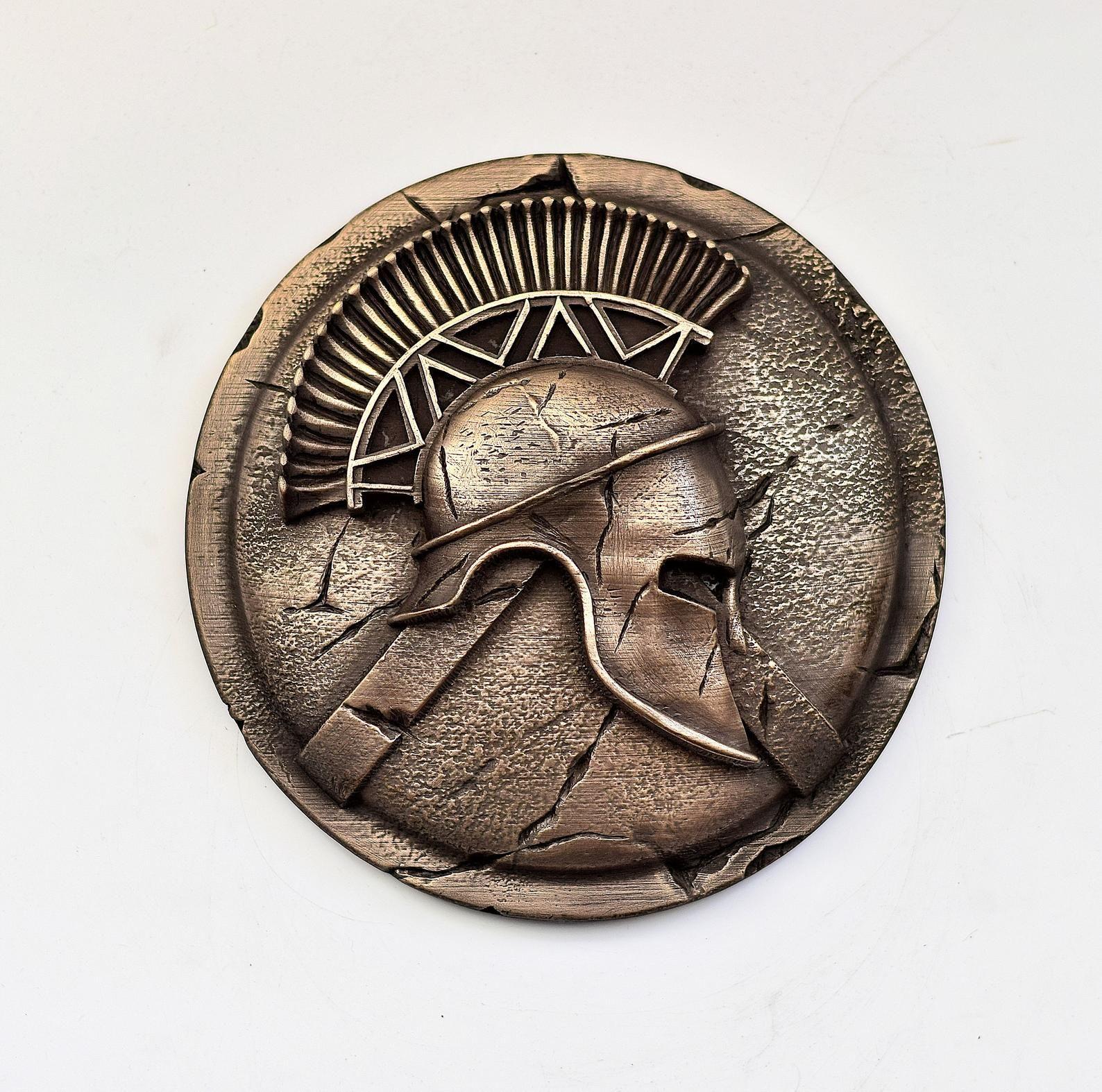 Greek Helmet Spartan Warrior Shield Wall Decor Hoplite Greek
