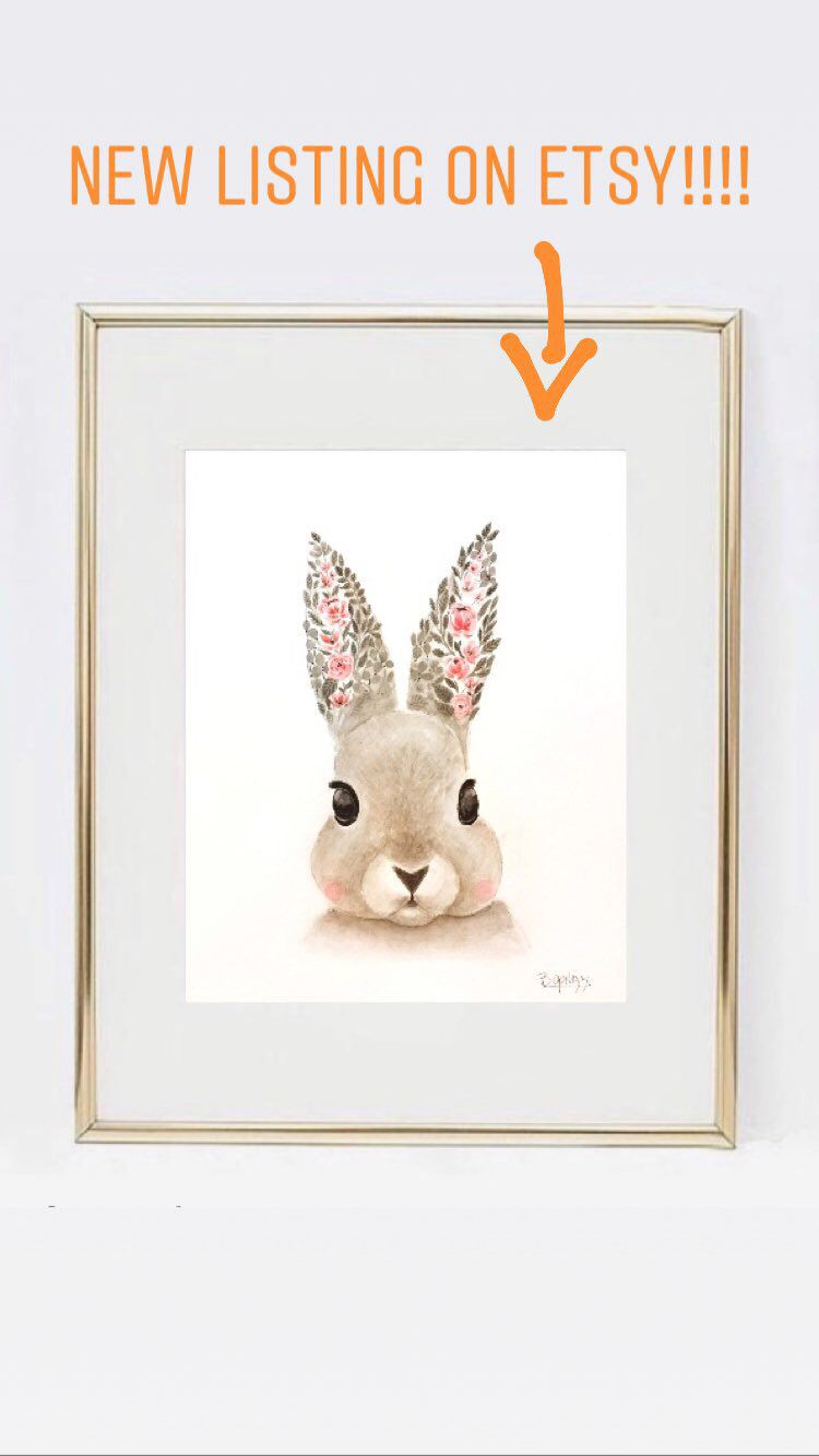 Rabbit Decor Print Bunny Prints