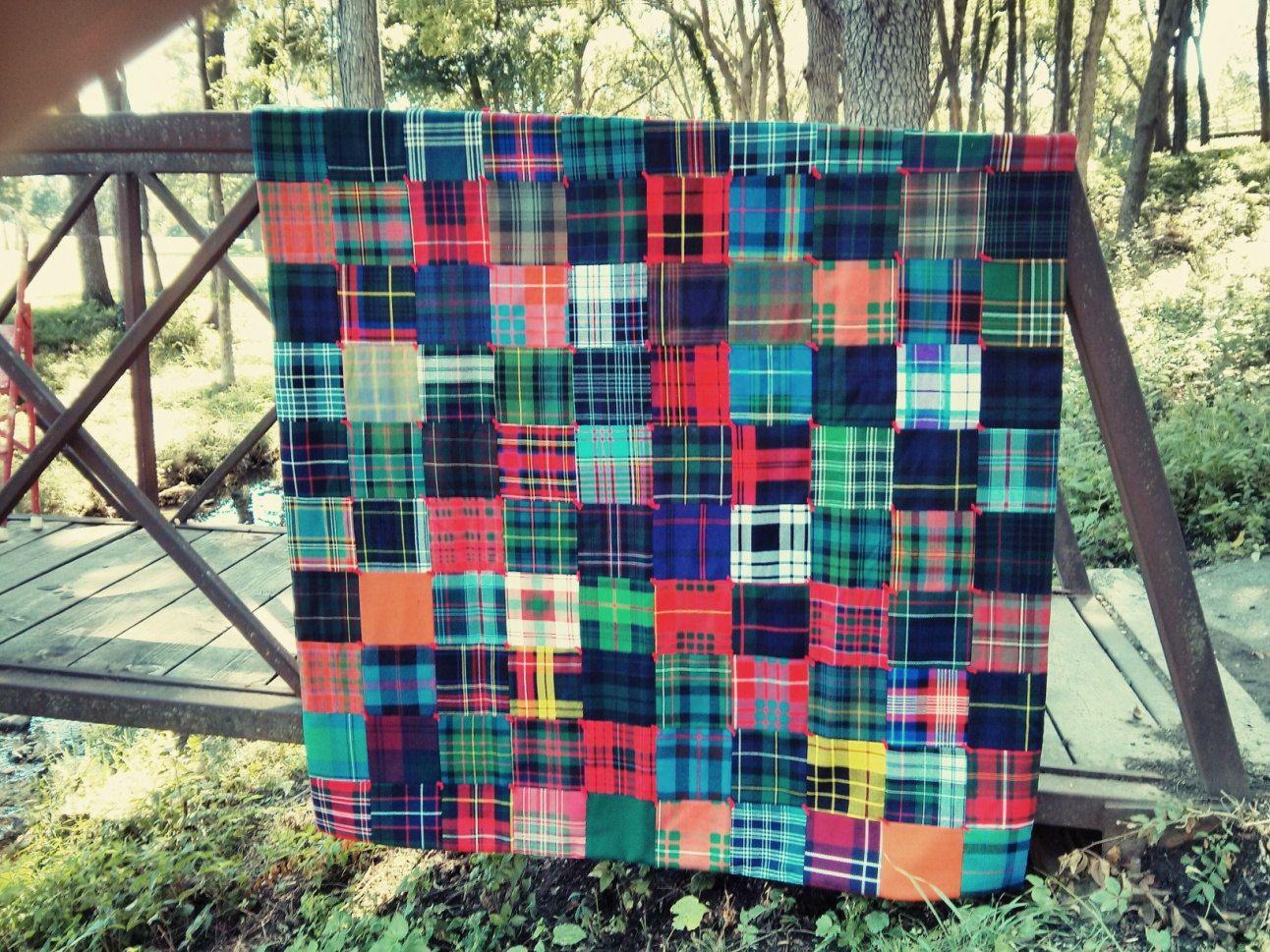 Gorgeous Scottish Wool Tartan Scrappy Tartan Quilt Macfarlane Quilts Plaid Quilt Tartan