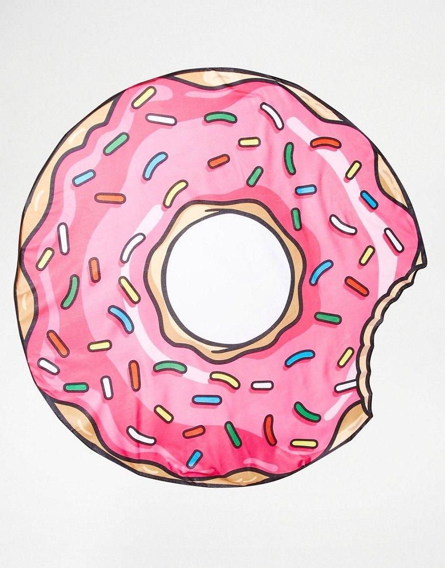 ¡Cómpralo ya!. Manta para la playa con diseño de donut de ...