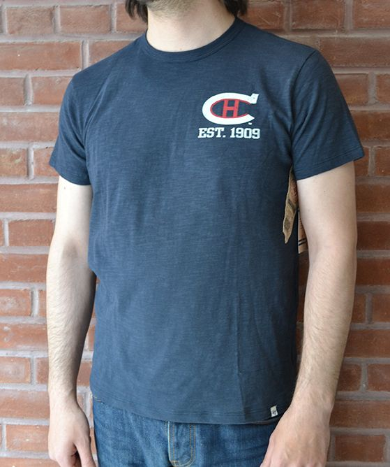 This light-weight tee from 47 Brand features the classic logo from the  Montreal Canadiens with their 1909 established date.