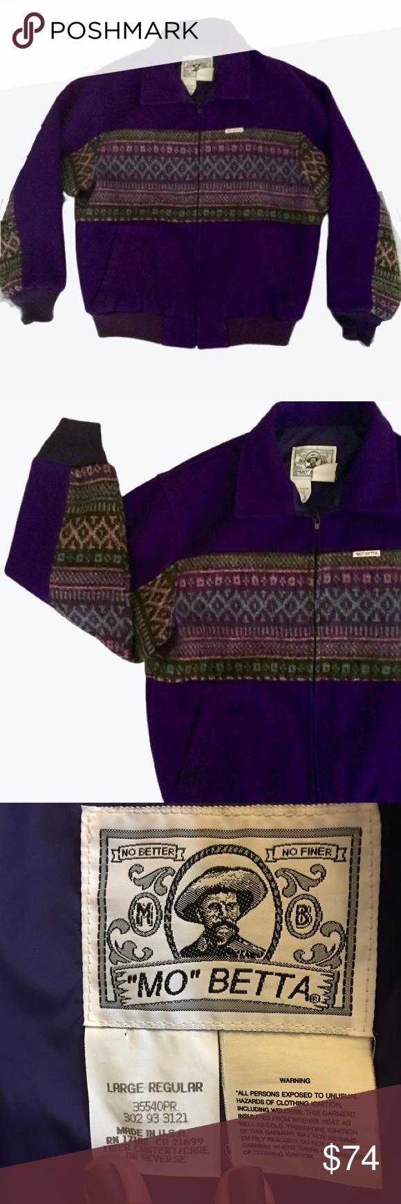 90 S Mo Betta Rare Purple Navajo Bomber Jacket Bomber Jacket Vintage Vintage Jacket Bomber Jacket [ 1740 x 580 Pixel ]