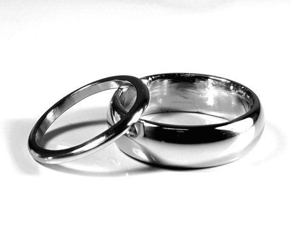 Iridium Wedding Bands by QuantumGems on Etsy | Wedding bands