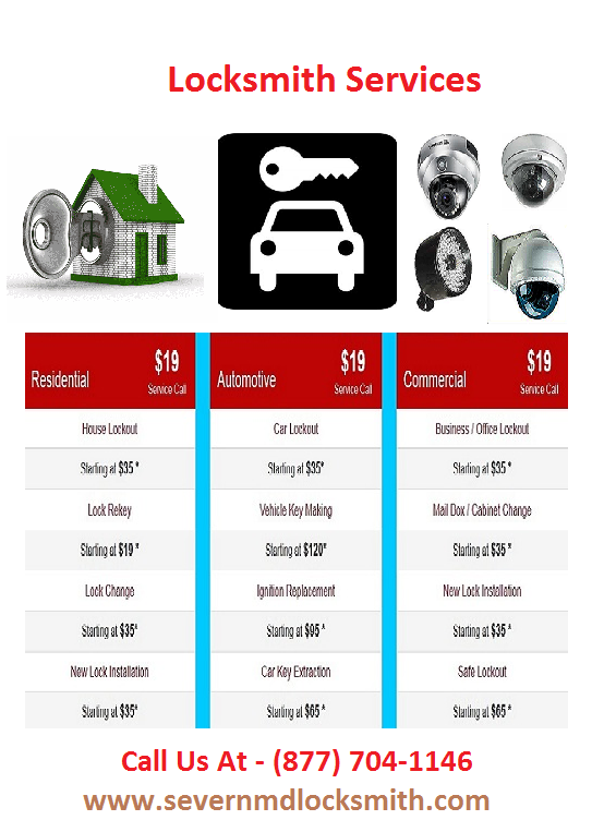 With the change in technology, Severn Locksmith upgraded his commercial, automotive, residential and emergency locksmith services, tools and equipment to provide the best work in the market for all our clients in Severn, MD at economical prices.