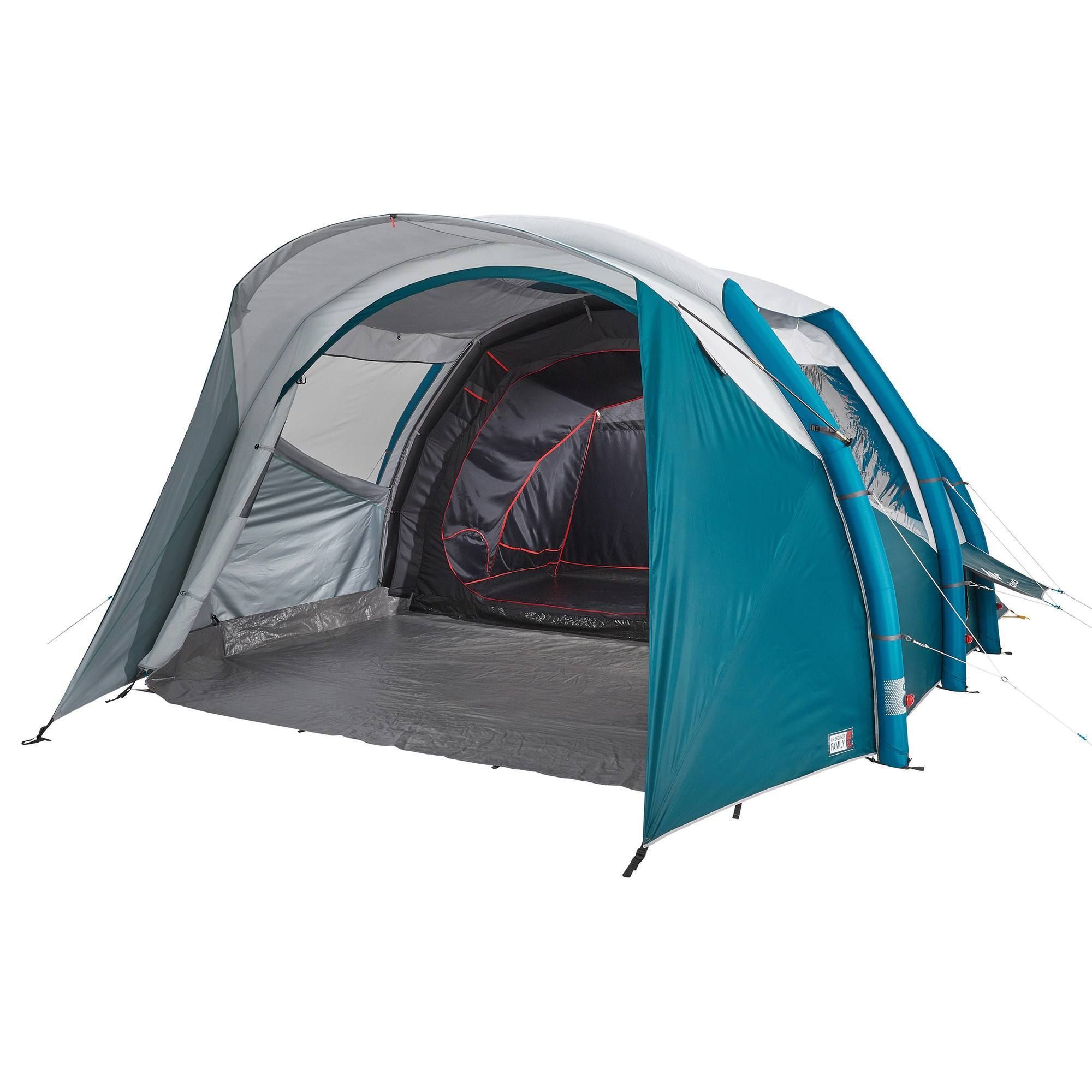 Quechua Air Seconds Fresh Inflatable Camping Tent 5 Person 2 Room In Black In 2021 Tent Family Tent Camping Tent Camping