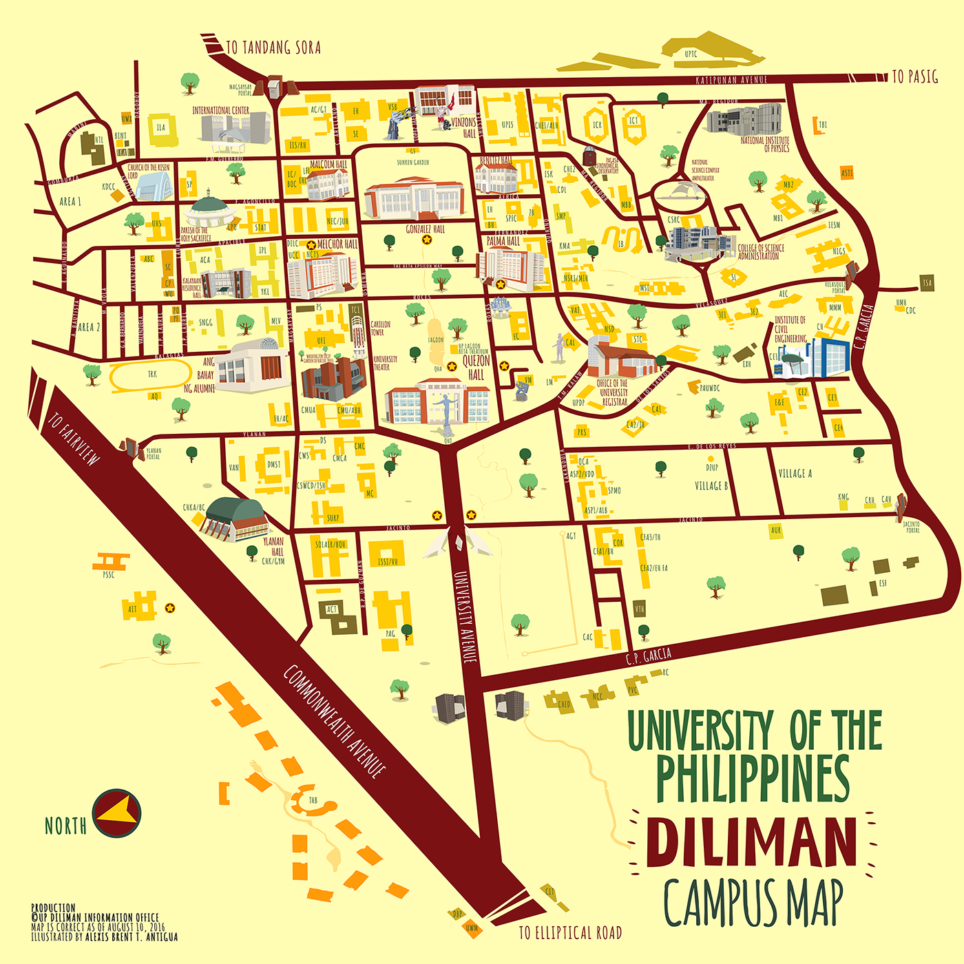 Pin by Eujin on Illustrated map | Campus map, Map, Word map