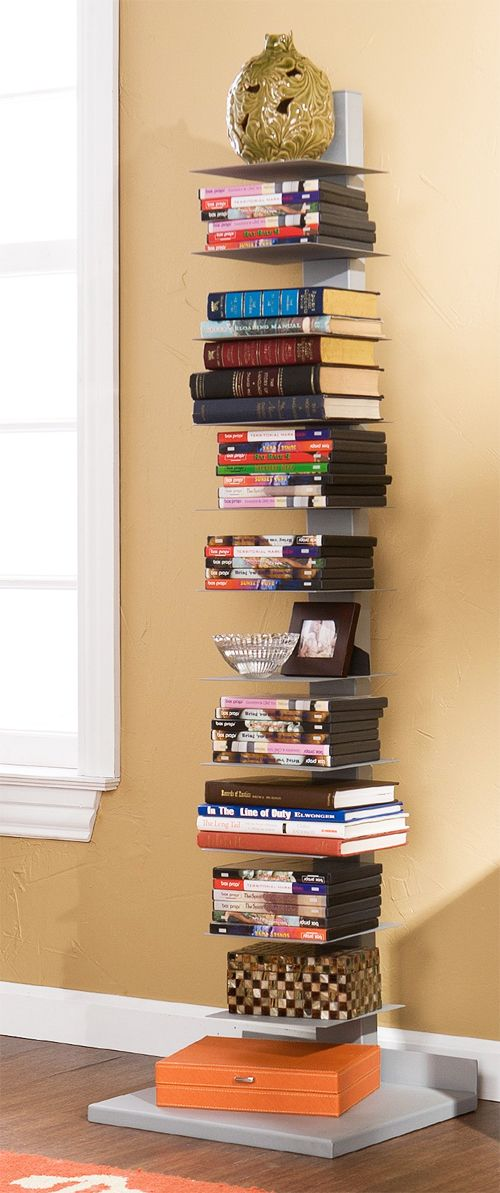 Book Tower Stacking Bookshelf Furniture Design