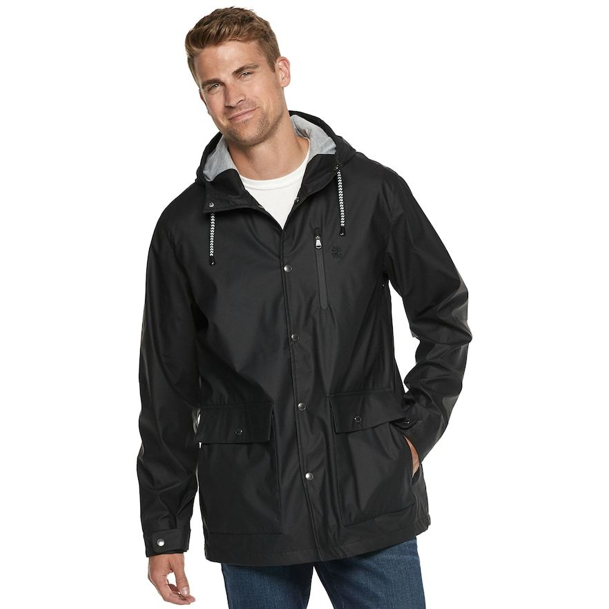 f91f4d15800 Izod Men's Hooded Rain Jacket in 2018 | Products | Pinterest | Rain ...