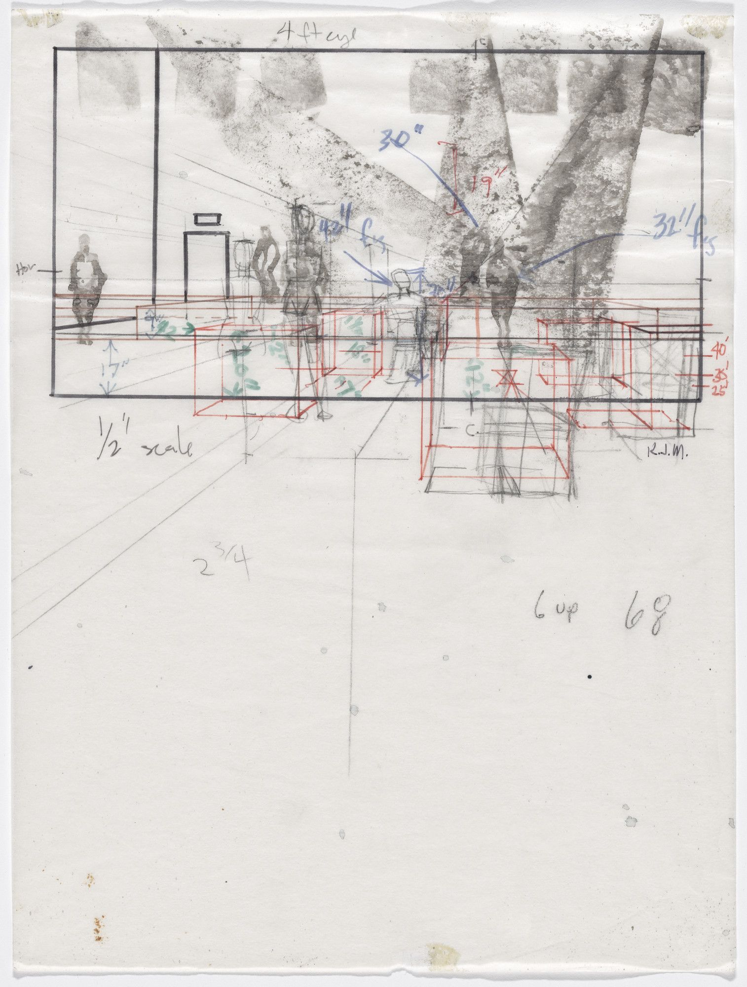 Kerry James Marshall. Untitled study for Untitled (Club ...