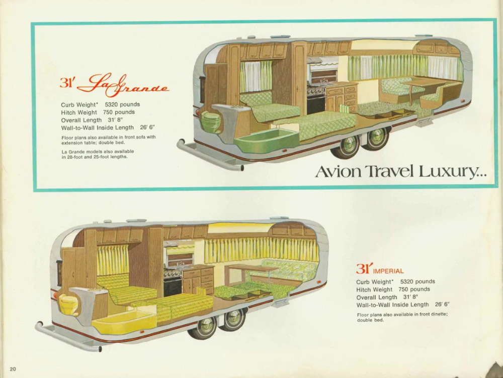Avion In 2020 Travel Trailer Floor Plans Travel Trailer Fleetwood Trailer