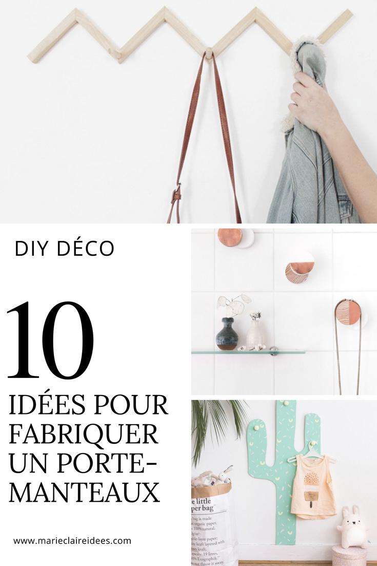 10 idées pour fabriquer un porte-manteaux   porte manteaux, diy déco
