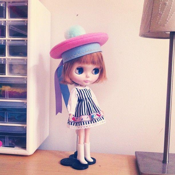 Caramelody girl #blythe by madebypablita, via Flickr