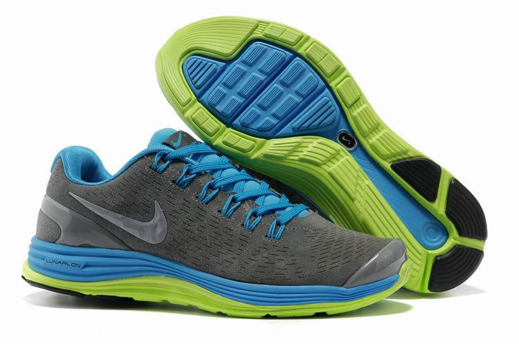 more photos 5664a fd9ec Nike LunarGlide Anti Fur Shoes Womens Gray Blue 70132