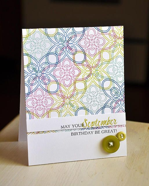 September Birthday Card using Papertrey Fancy That stamp set (PTI)