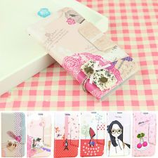 FOR SAMSUNG GALAXY S2 S3 S4 FASHION CUTE FLIP STAND WALLET PU LEATHER CASE COVER