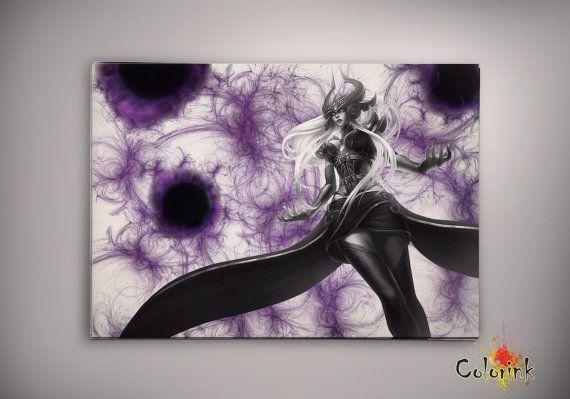 League of Legends Syndra Watercolor illustrations Art Print Wall Art ...