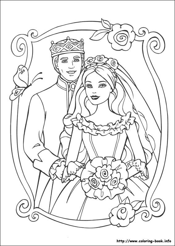 Barbie As The Princess And The Pauper Coloring Picture Wedding Coloring Pages Barbie Coloring Barbie Coloring Pages