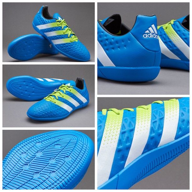 huge selection of d68c1 fbff4 ... ثبت سفارش با کد محصول در تلگرام. Find this Pin and more on Fútbol by  Sergio Rodriguez. adidas ACE 16.3 IN - Shock Blue Semi Solar Slime White  قیمت بعد ...