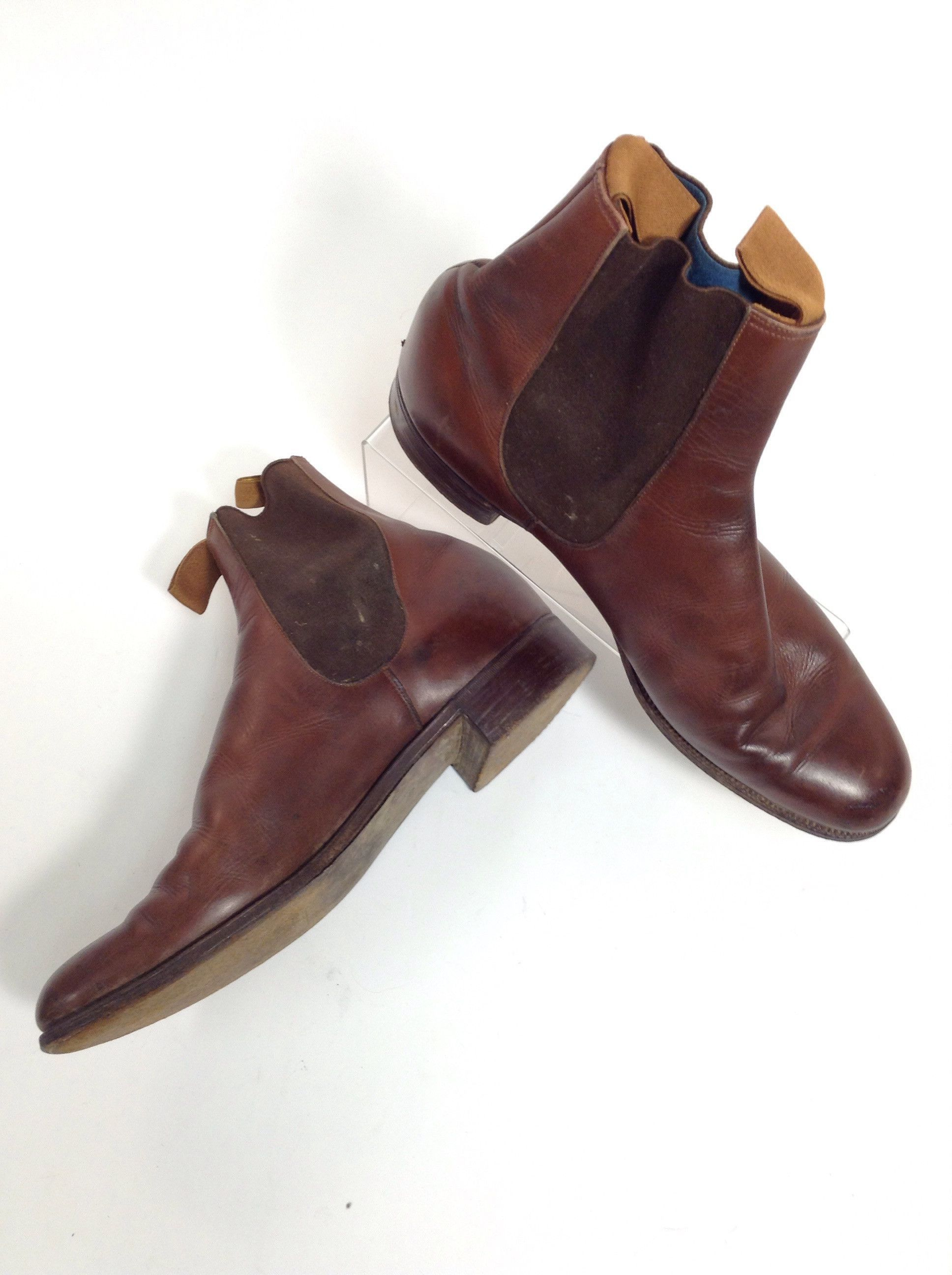 Brown Pull on Ankle boots