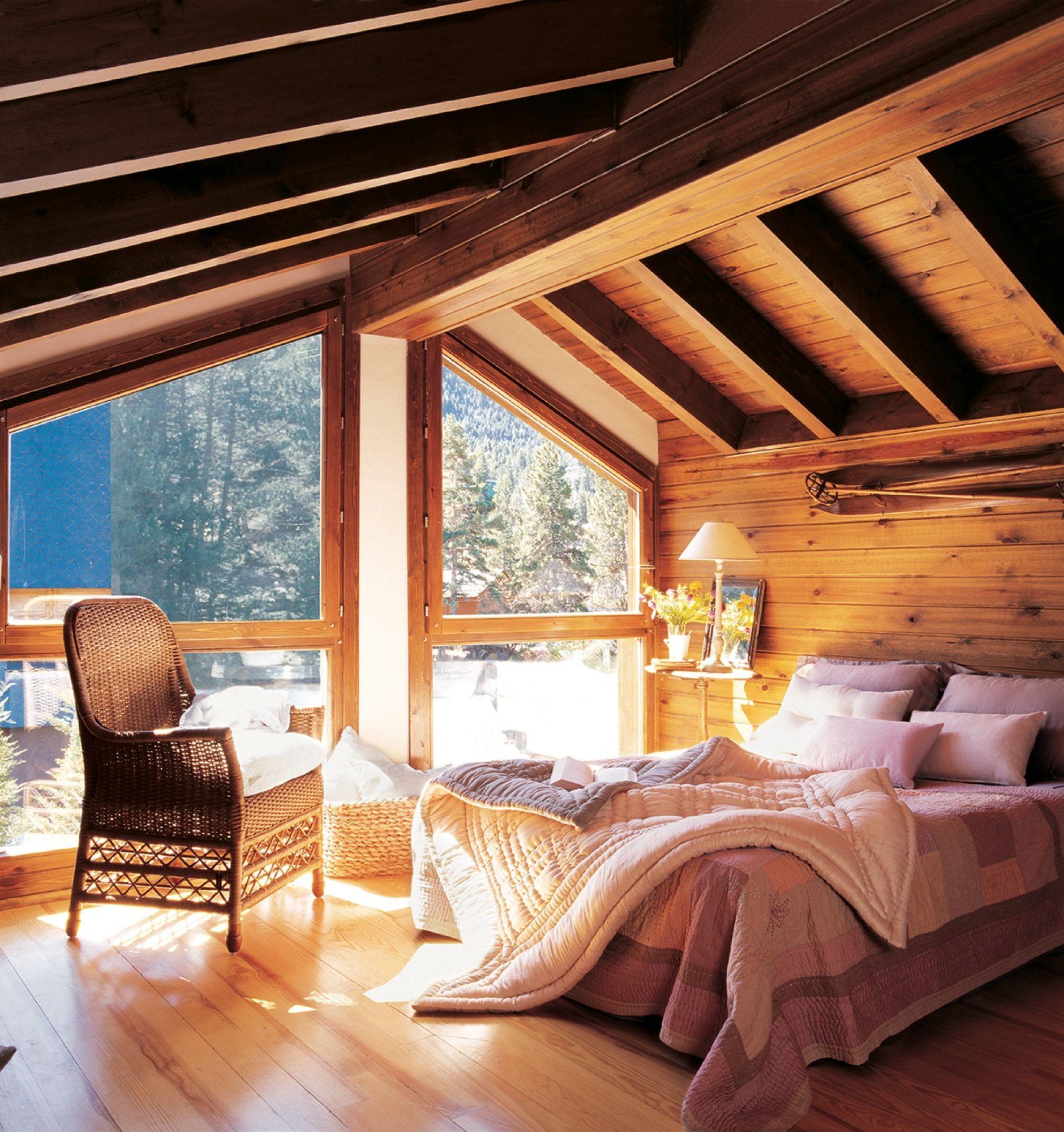 Con vigas de madera dormitorios r sticos r stico y - Vigas de decoracion ...