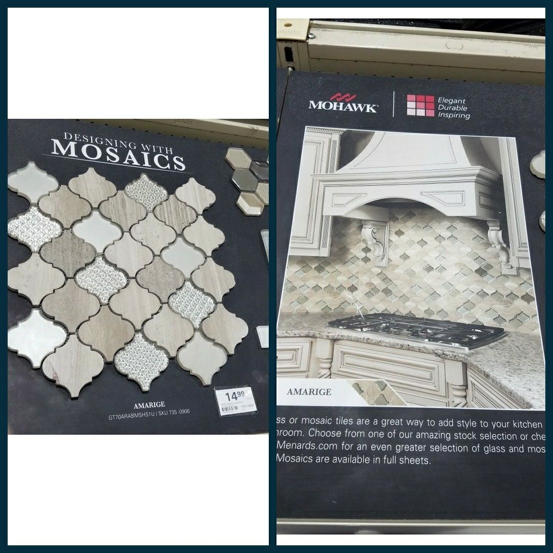 - Mohawk Mosaic Backsplash From Menards Mosaic Backsplash, Mosaic