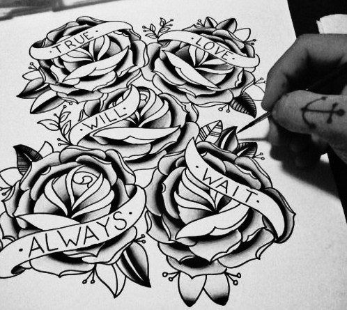 New Old School Tattoo Rose Tattoos Love Tattoos Tattoos
