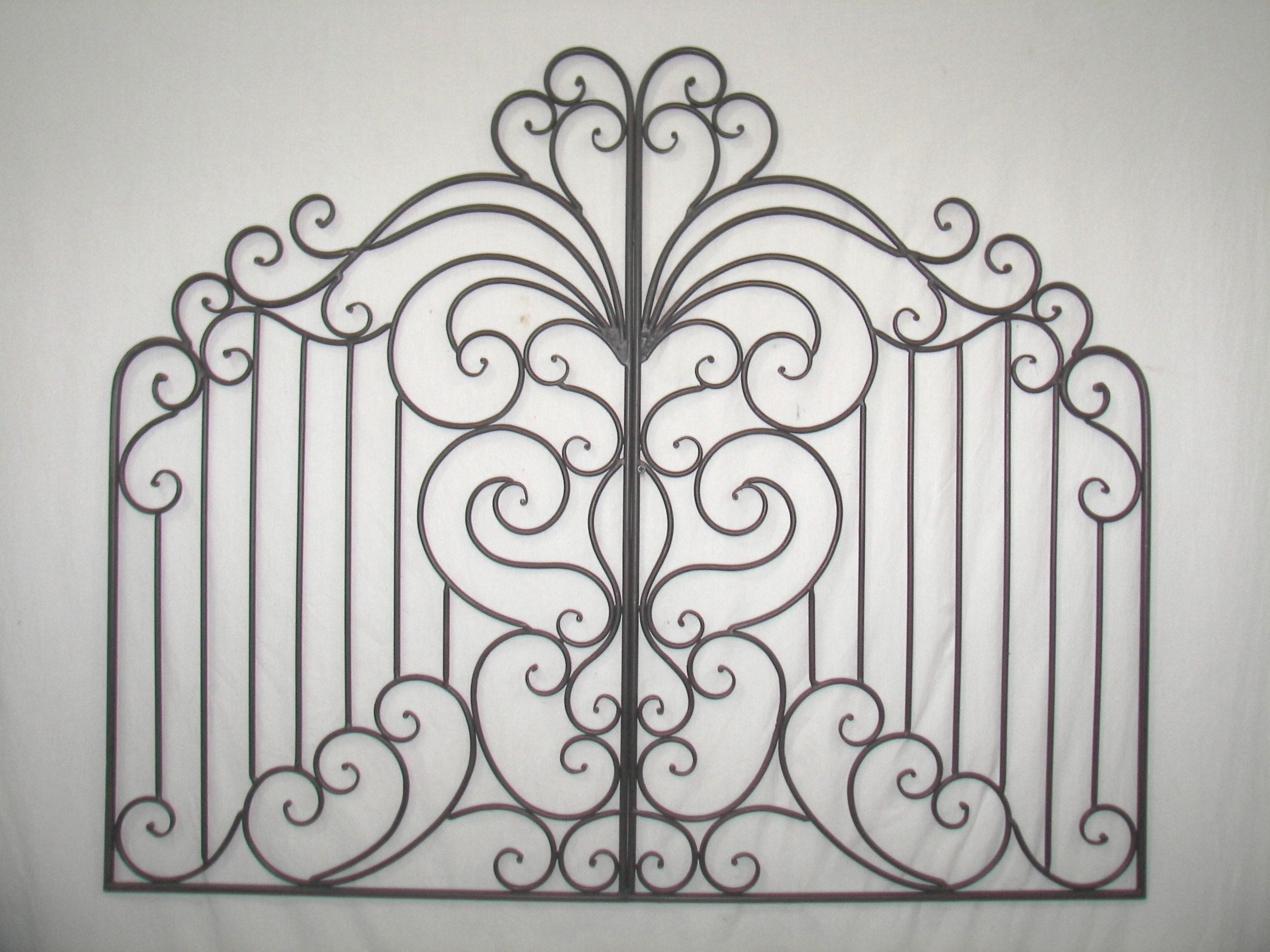 Wrought Iron Wall Grille Natalatuscan41''wroughtirongardengatewallgrillethis