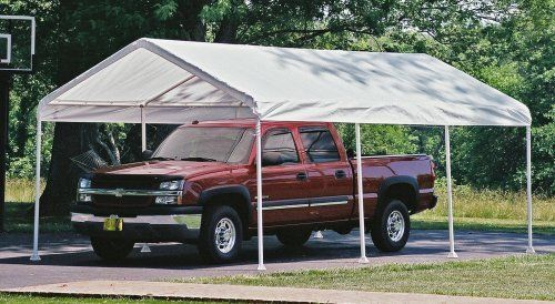 Shelterlogic 12 X 20 Feet Canopy 2 Inch 4 Rib Frame White Cover By Shelter Logic 389 81 Wide Foot Pla Canopy Outdoor Best Tents For Camping Garden Canopy