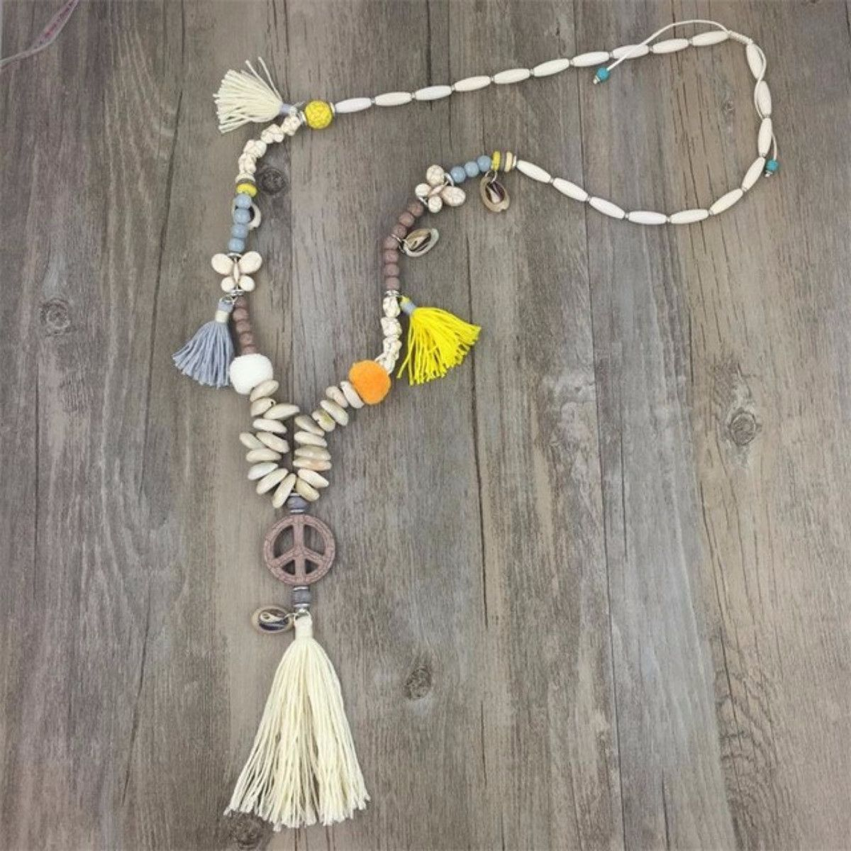 Handmade Peace Necklace