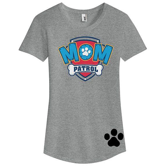 Paw Patrol Inspired Birthday Shirt MOM PATROL birthday shirt GREY ... 5d62680341