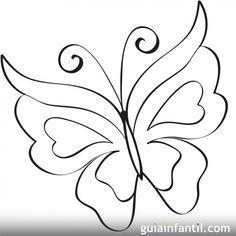 Mariposa para imprimir   10 dibujos de mariposas para colorear