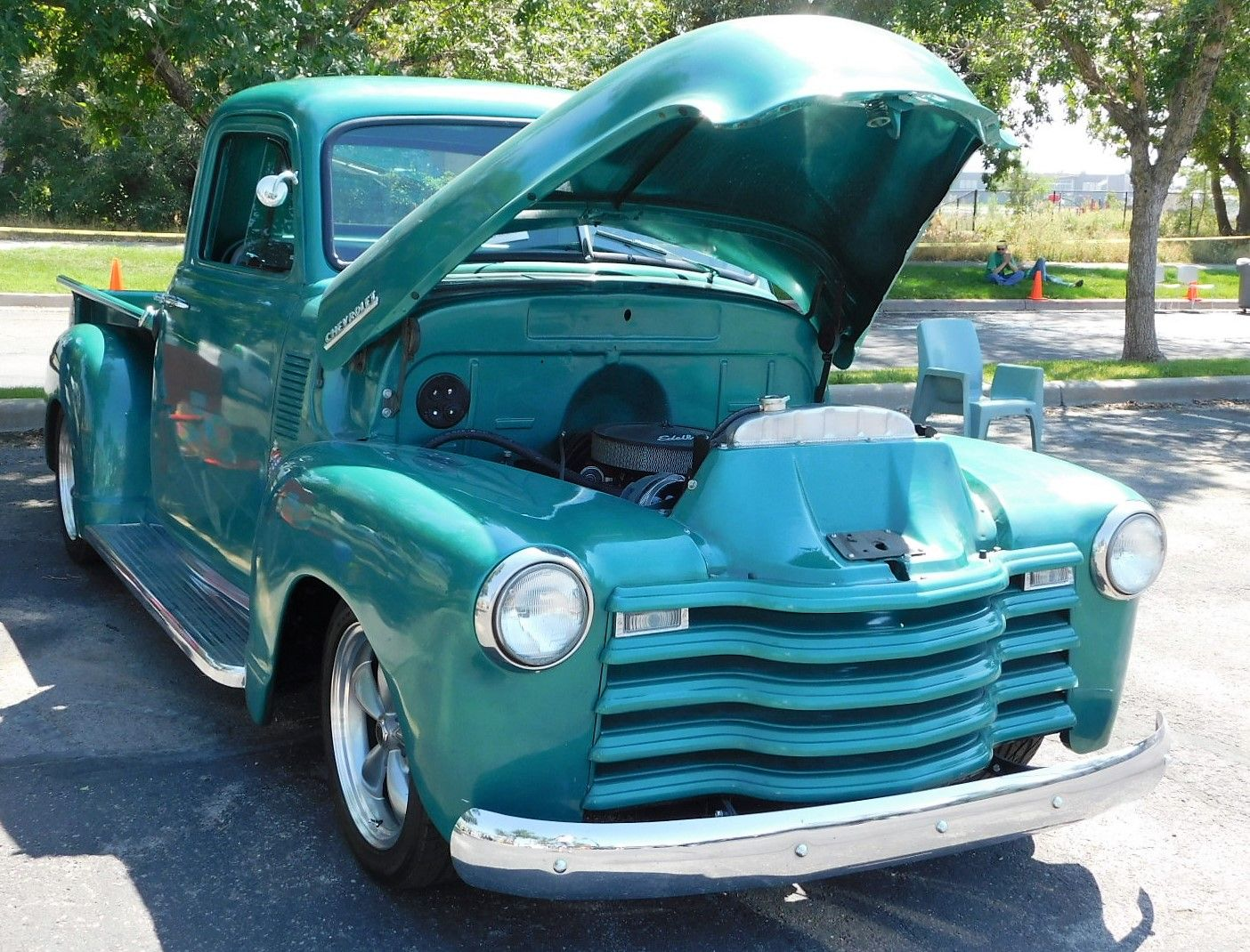 Image Of 1952 Chevy Truck Hot Rod 1949 Bagged Posies Rods And Customs Super Slide Springs Street Parts